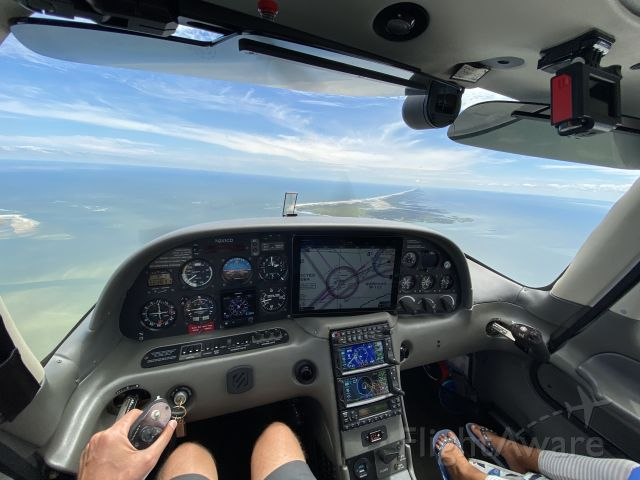 Cirrus SR-20 (N243CD) - On approach to Ocracoke Island for a daddy-daughter beach trip.