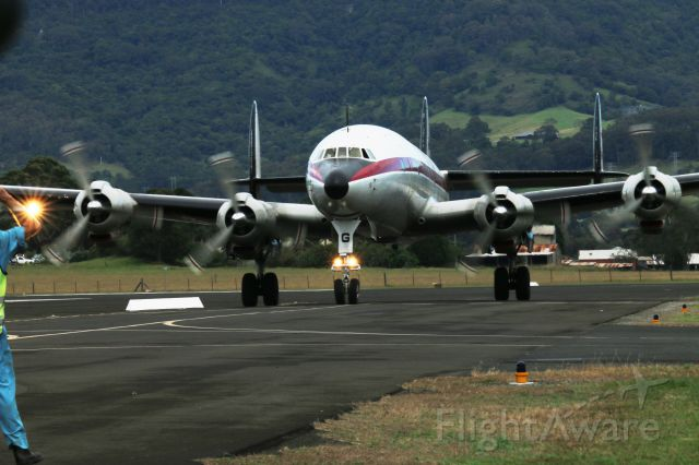 VH-AEG — - Connie taxing in