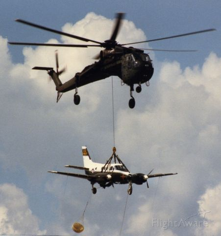 G18037 — - U8 & CH54 in formation, the Army way.