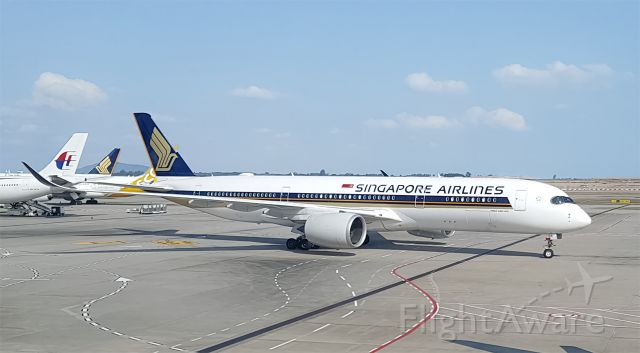 Airbus A350-900 (9V-SGA) - Singapore Airlines Ultra-Long Range Airbus A350-900 arrived into Singapore from Los Angeles