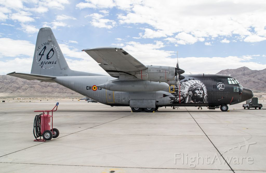 Lockheed C-130 Hercules (BMJ13) - Belgian C-130 visiting Nellis AFB, NV for Red Flag 14-2.