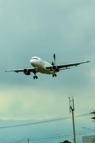 Airbus A319 (N501VL) - En el aeropuerto internacional Juan Santamaría CR