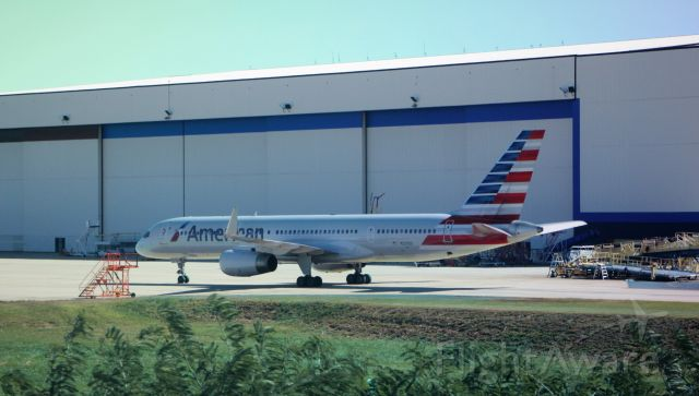 Boeing 757-200 (N201UU) - 10/22/16  Parked at the maintenance hanger