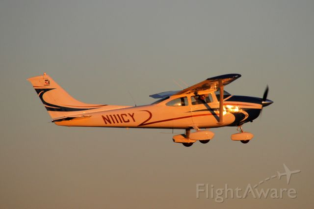 Cessna Skylane (N111CY) - Looking golden in the late afternoon sun.