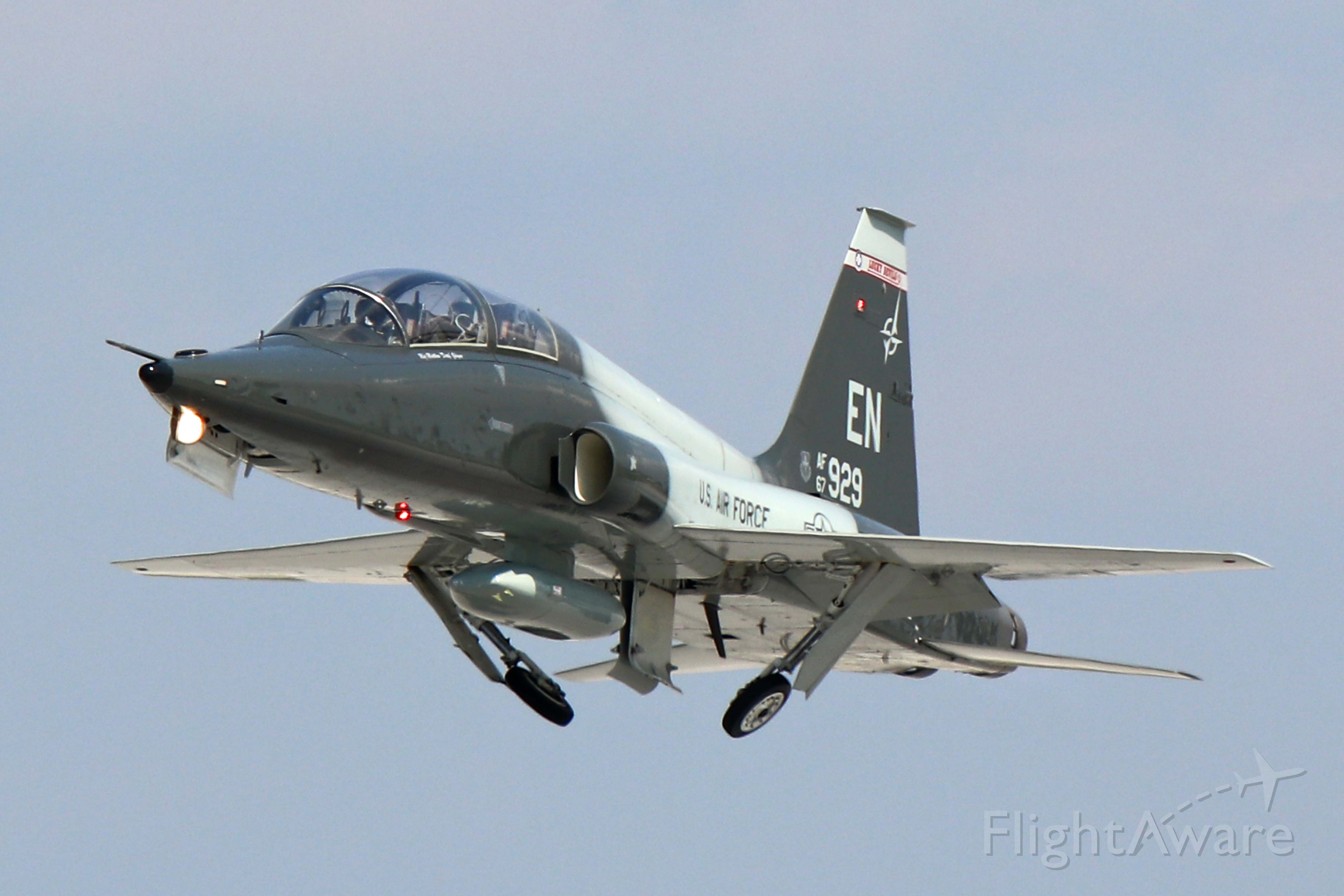 """Northrop T-38 Talon (6714929) - A Northrop T-38C Talon from the 88th Flying Training Squadron (88 FTS) """"Luky Devils"""", 80th Operations Group, Sheppard AFB, TX adeparting Toledo on Friday 13 Sep 2019.."""