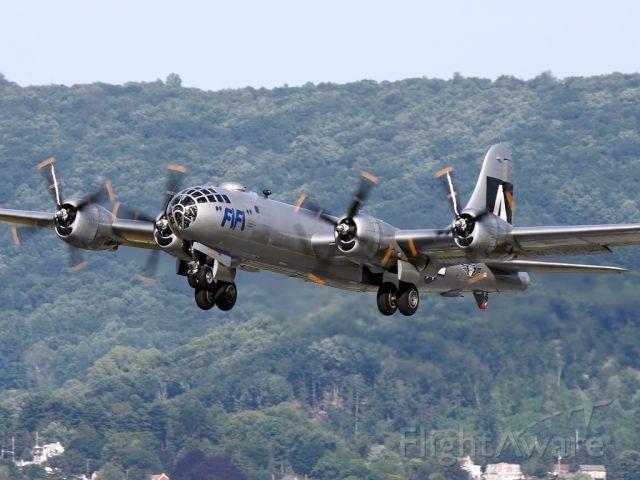 """Boeing B-29 Superfortress (N529B) - """"FIFI"""" taking off at Reading"""