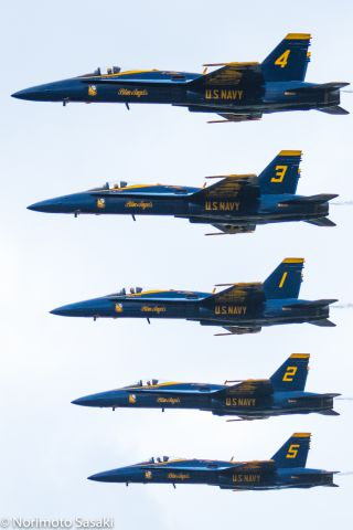 McDonnell Douglas FA-18 Hornet (16-3455) - 2015 KANEOHE BAY AIRSHOW<br />Blue Angels #1~#5