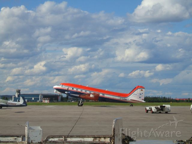 Douglas DC-3 (C-GAWI) - Parked At Woodward Aviation F.B.O. Goose Airport Lab.