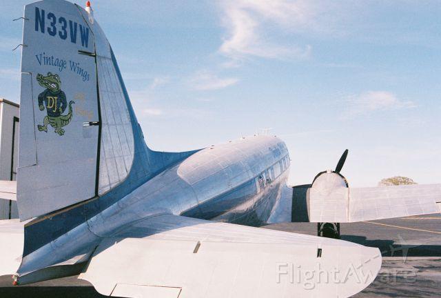 Douglas DC-3 (N33VW) - This C-47 was built as a Douglas C-47A-90-DL Skytrain, USAAF s/n 43-15935, msn 20401. It was declared surplus in 1946 according to Joe Baugher