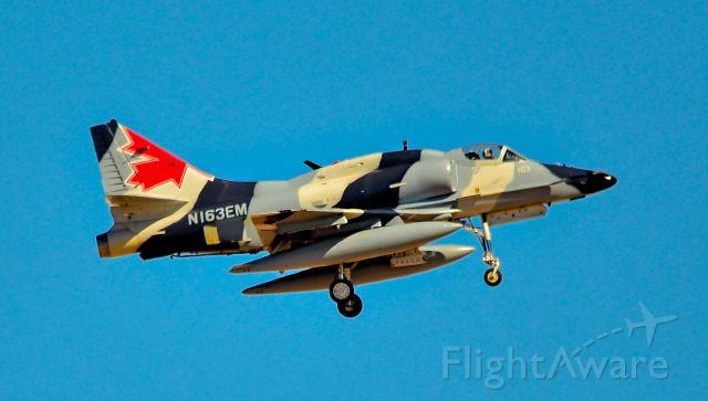 Raytheon Hawker 800 (N163EM) - N163EM (1972) Draken McDonnell Douglas A4N  c/n 159815 - Red Flag 16-3<br />Las Vegas - Nellis AFB (LSV / KLSV)<br />TDelCoro<br />July 19, 2016