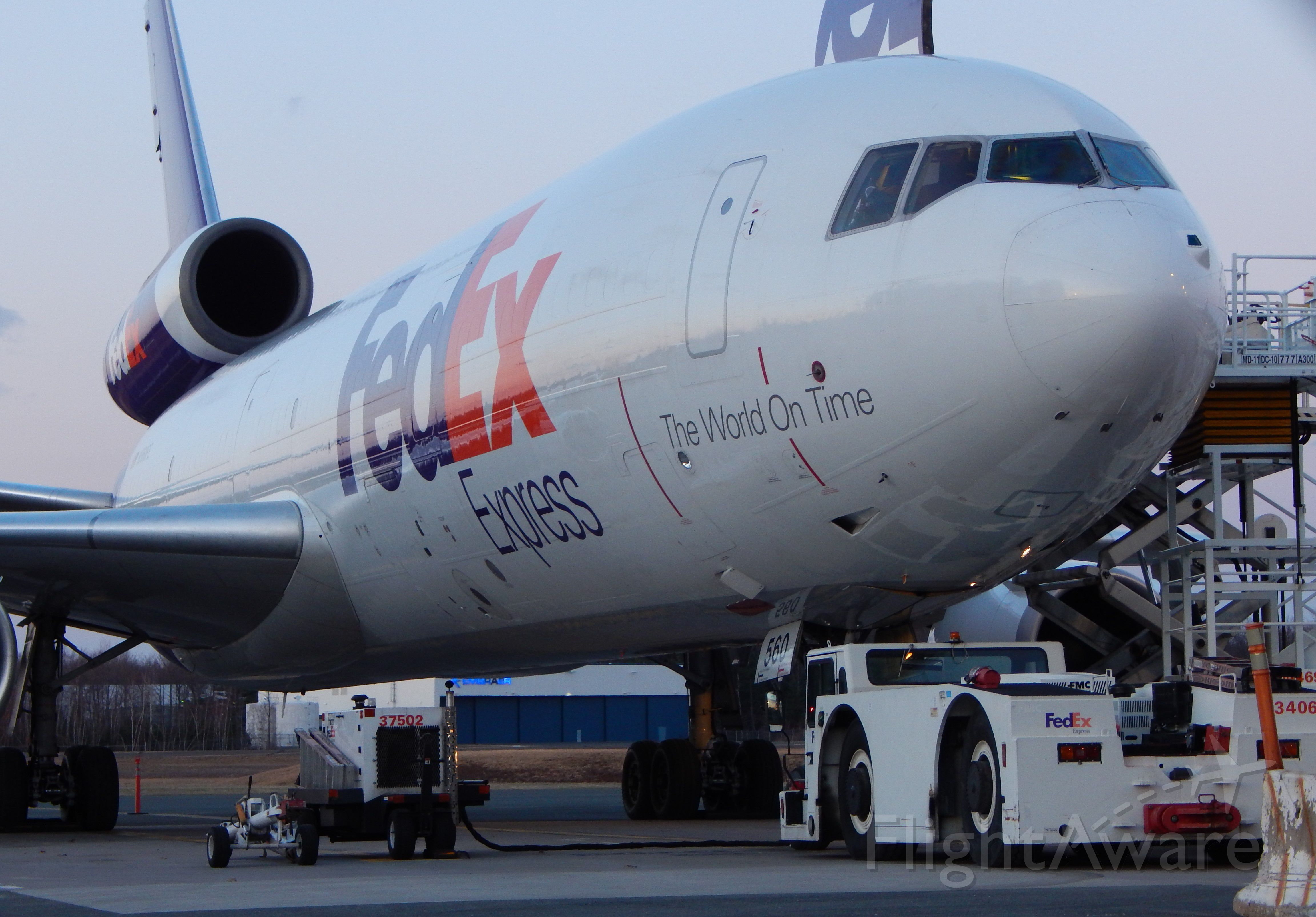 McDonnell Douglas DC-10 (N560FE) - Another shot of a FedEx MD10 this evening, resting at BDL.