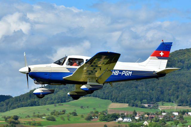 "SCHEMPP-HIRTH Arcus E (HB-PGM) - Piper Archer II PA28-181 from ""Motorfluggruppe Thurgau""  (10-09-2017)"