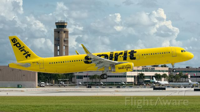 Airbus A321 (N657NK) - First arrival on a regular FLL schedule (DTW), 20 Aug 15.