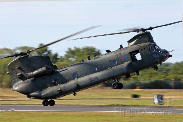 — — - Display the RAF Chinook.