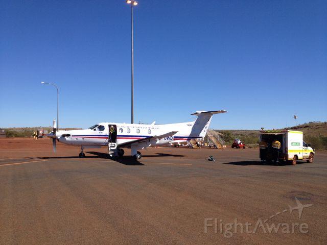 Pilatus PC-12 (VH-OWD) - FD603 attending to a sick mine worker @ YFDF