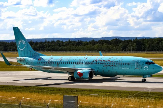 Boeing 737-800 (TC-SUZ) - with my initials on the tail!!!