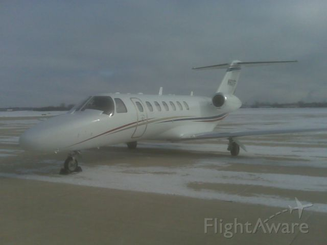 Cessna Citation CJ3 (N83TF) - On a snowy Dupage Airport (KDPA) in Chicago, IL.  Taken Jan 5, 2010