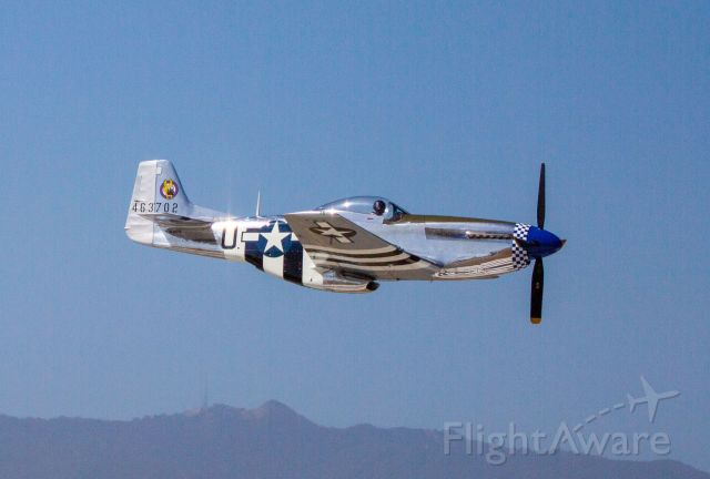 North American P-51 Mustang (NL26PW) - Amazing P-51D Mustang high-speed, low-pass at KCVH Hollister, CA - June 28th, 2018
