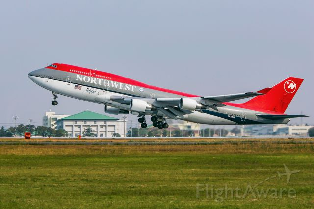 Boeing 747-400 (N673US) - Take in 2004