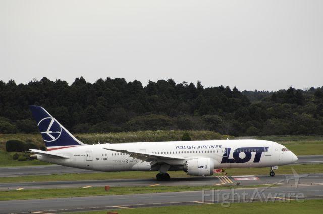 Boeing 787-8 (SP-LRD) - Landing at Narita Intl Airport R/W34L on 2016/10/13