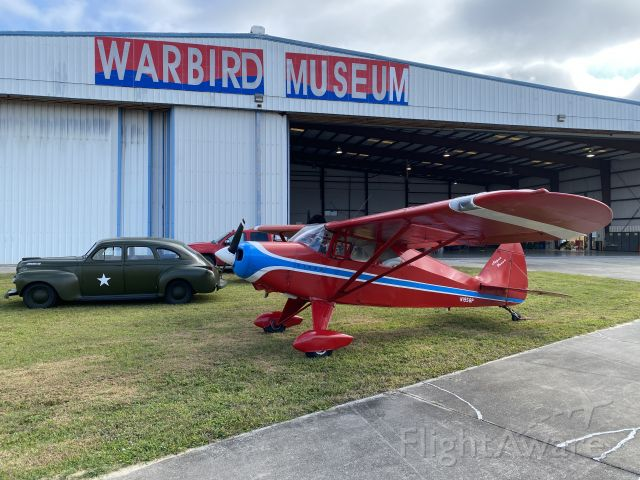Piper PA-20 Pacer (N1958P) - Locally owned 1958 Piper Super Pacer at Valiant Air Command (VAC) warbird museum in Titusville, FL, 18-21 December 2020, including car show on 19 December 2020.