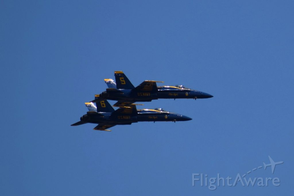 — — - Blue Angels performing for Sea Fair Airshow