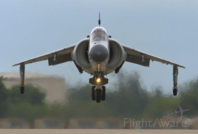Cessna Skylane (N94422) - Landing display at AirVenture 2013, Sea Harrier FA2