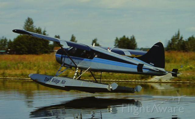 De Havilland Canada DHC-2 Mk1 Beaver (N310NR) - Landing at Lake Hood Seaplane Base at ANC 7-28-2003