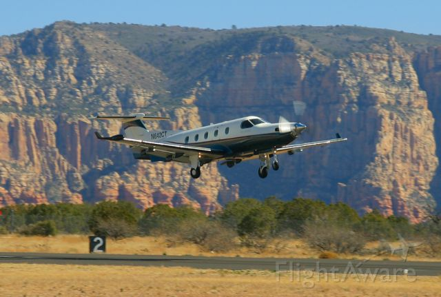 Pilatus PC-12 (N642CT) - Takeoff, Sedona, Feb 25, 2006