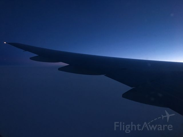 Boeing 777-200 (N866DA) - Mid flight on Delta 120, Tokyo/Haneda to Minneapolis St. Pail airport.