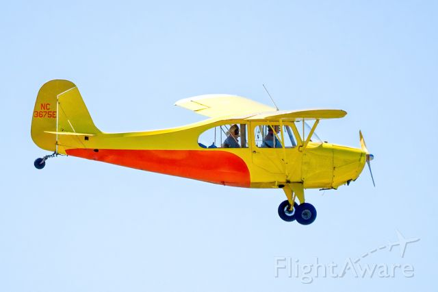CHAMPION Tri-Traveler (N3675E) - Aeronca 7AC Champion over Livermore Municipal Airport (CA). March 2021.