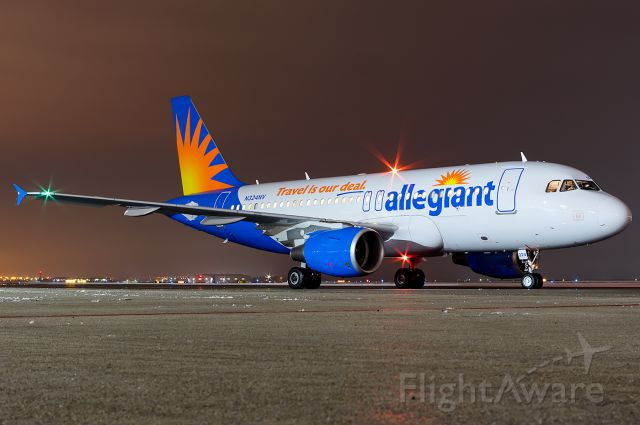 """Airbus A319 (N324NV) - Getting ready to spool up back to Vegas. Full quality photo: <a rel=""""nofollow"""" href=""""http://www.airliners.net/photo/Allegiant-Air/Airbus-A319-112/4159535"""">http://www.airliners.net/photo/Allegiant-Air/Airbus-A319-112/4159535</a>"""