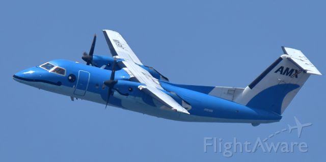 de Havilland Dash 8-100 (JA81AM) - Blue dolphins swimming in the blue sky!