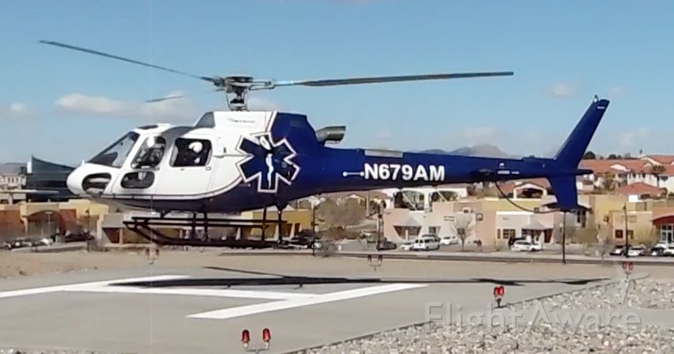 N679AM — - Native Air Eurocopter taking off from MountainView Regional Medical Center, Las Cruces NM