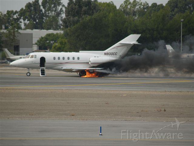 Raytheon Hawker 800 — - Fire!!