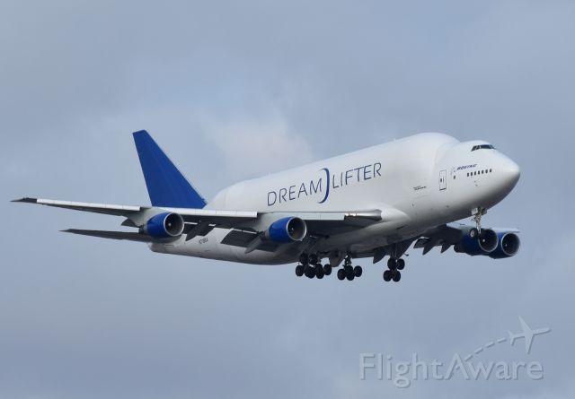Boeing 747-200 (N718BA) - Dreamlifter arriving into JFK.