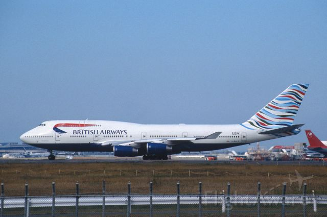 Boeing 747-400 (G-BNLY) - Departure at Narita Intl Airport Rwy34L on 1999/10/24