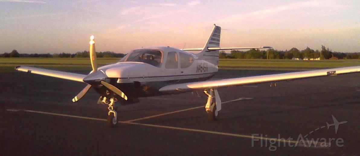 Rockwell Commander 114 (N4645W) - 4645W M17 at dusk