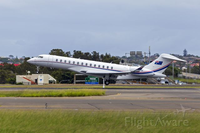 BOMBARDIER BD-700 Global 7500 (VH-TGG) - Gandel Investments (VH-TGG) Bombardier Global 7500 on rotation at Sydney Airport.