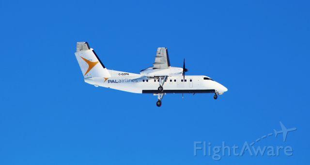 de Havilland Dash 8-100 (C-GZPA) - PVL Dash 8 100 on right base for runway 26 in Goosebay