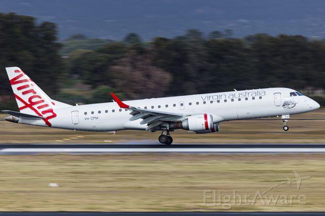 VH-ZPM — - Virgin Embraer 190 arrives at Adelaide