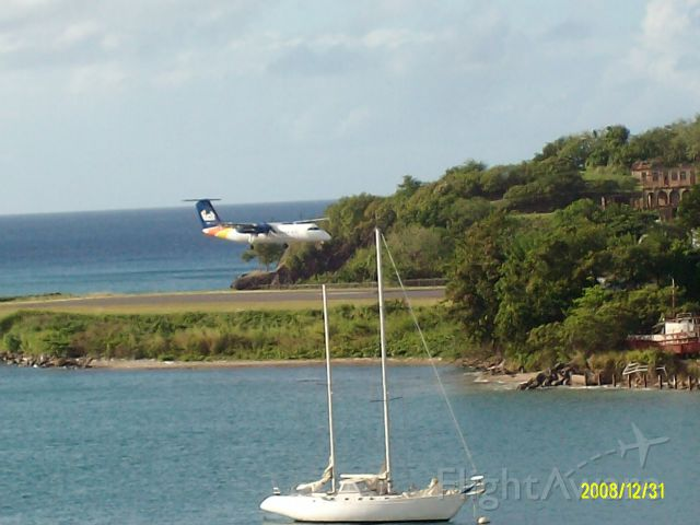 — — - VIGIE Airport, Castries, St. Lucia - taken from Royal Caribbean Adventure of the Seas balcony
