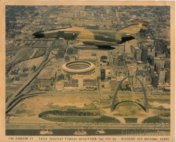 MOANGF4 — - Bygone Days over St. Louis Old Busch Stadium. For all of my Missouri Air National Guard friends.
