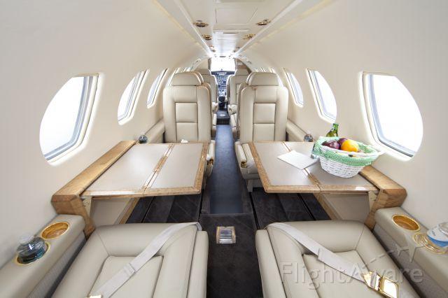 "Cessna Citation V (N560HG) - Beautiful, brand new interior. 9 pax + 2 pilots configuration. CFM (Corporate Flight Management) has two Citation V available for charter in the New York metropolitan area KHPN KTEB KDXR KBDR. <a rel=""nofollow"" href=""WWW.FLYCFM.COM"">WWW.FLYCFM.COM</a>"
