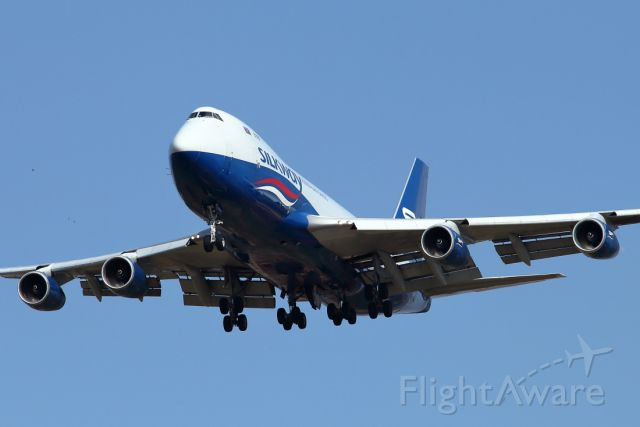 Boeing 747-400 (4KSW008) - 22/07/2020:  Approaching runway 12 from Baku (GYD), duration was 02h44m.