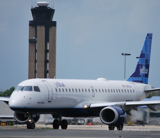 Embraer ERJ-190 (N283JB) - Taxiing into position 18L at KCLT - 4/8/10