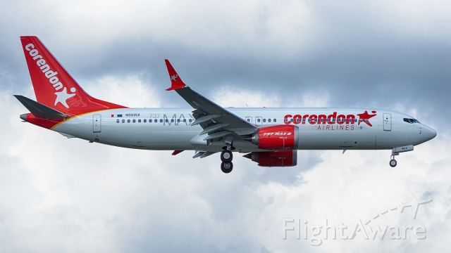 Boeing 737 MAX 8 (N5515X) - BOE611 on approach to runway 16.