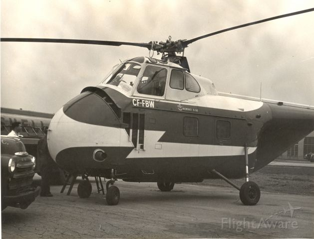 C-FFBW — - Sikorsky S-55 at unknown location - early 1950s.