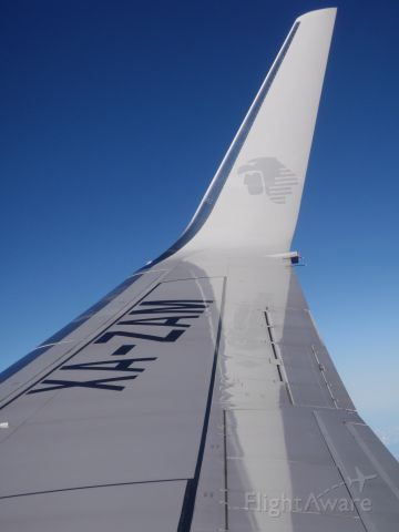 Boeing 737-700 (XA-ZAM) - Clear Blue skies enroute from MMMX (Mexico City) to MMMY (Monterrey)