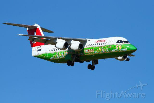 "British Aerospace BAe-146-300 (HB-IYH) - SWISS Avro with ""Shopping Paradise"" painting"
